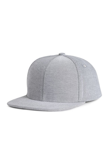 Cotton-blend cap - Light grey -  | H&M CN 1