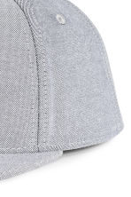 Cotton-blend cap - Light grey -  | H&M CN 3