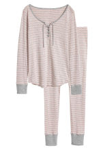 Jersey pyjamas - Light pink/Striped - Ladies | H&M 2