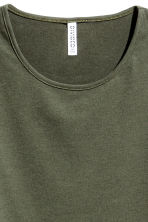 Long-sleeved jersey top - Khaki green - Ladies | H&M 3