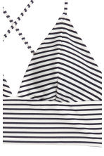 Bikini top - Black/White/Striped - Ladies | H&M CN 3