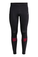 Running tights - Black/Red - Men | H&M CN 2