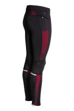 Running tights - Black/Red - Men | H&M CN 3