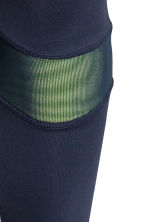 Running tights - Dark blue/Yellow -  | H&M 4
