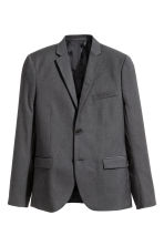 Blazer - Slim fit - Donkergrijs -  | H&M BE 4