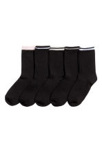 5-pack socks - Black/Pink - Ladies | H&M CN 1