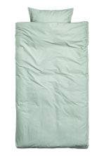 Washed cotton duvet cover set - Dusky green - Home All | H&M CA 2