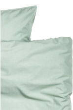 Washed cotton duvet cover set - Dusky green - Home All | H&M CA 3