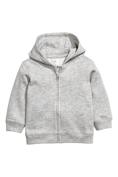 Hooded jacket - Grey marl -  | H&M 1