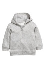 Hooded jacket - Grey marl -  | H&M CN 1