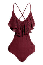 Frilled swimsuit - Burgundy - Ladies | H&M 2
