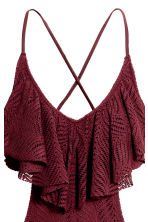 Frilled swimsuit - Burgundy - Ladies | H&M 3