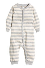 2-pack all-in-one pyjamas - Natural white/Striped - Kids | H&M CN 2