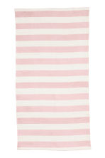 Striped cotton rug - Light pink - Home All | H&M CA 1