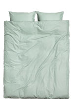 Washed cotton duvet cover set - Dusky green - Home All | H&M 2