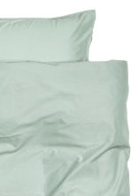 Washed cotton duvet cover set - Dusky green - Home All | H&M 3