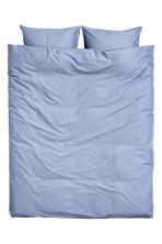 Washed cotton duvet cover set - Pigeon blue - Home All | H&M CN 2