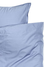 Washed cotton duvet cover set - Pigeon blue - Home All | H&M CN 3