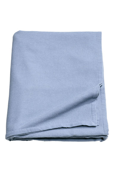 Waffled double bedspread - Pigeon blue - Home All | H&M CN 1