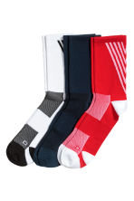3-pack sports socks - Red/White/Black - Men | H&M 1