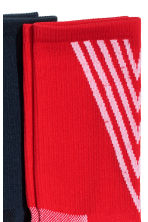 3-pack sports socks - Red/White/Black - Men | H&M 2