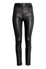 Trousers High waist - Black/Coated - Ladies | H&M CN 2