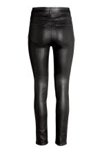 Trousers High waist - Black/Coated - Ladies | H&M CN 3