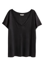 V-neck top - Black - Ladies | H&M 2