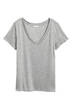 V-neck top - Grey - Ladies | H&M 2