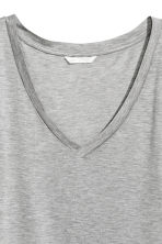 V-neck top - Grey - Ladies | H&M 3