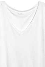Top con scollo a V - Bianco - DONNA | H&M IT 3