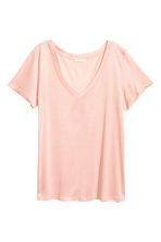 V-neck top - Powder pink - Ladies | H&M CN 2