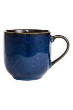 Tazza in gres - Blu scuro - HOME | H&M IT 1
