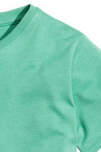 Cotton T-shirt - Green -  | H&M 3