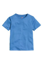 Cotton T-shirt - Bright blue -  | H&M 2