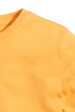 Cotton T-shirt - Yellow -  | H&M CN 3