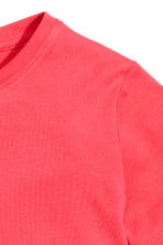 Cotton T-shirt - Coral red -  | H&M CN 3