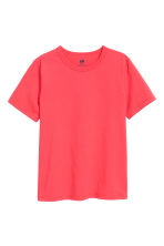 Cotton T-shirt - Light red -  | H&M 2