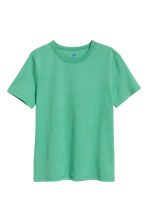 Cotton T-shirt - Green -  | H&M 2