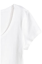 Jersey top - White - Ladies | H&M 3