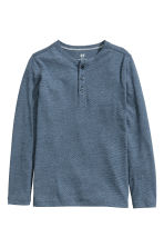 Henley shirt - Blue/Narrow striped -  | H&M CN 2