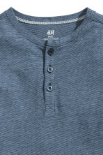 Henley shirt - Blue/Narrow striped -  | H&M 3