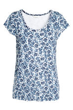 MAMA Nursing top - White/Blue/Floral - Ladies | H&M 2