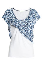MAMA Nursing top - White/Blue/Floral - Ladies | H&M 3