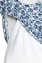 MAMA Nursing top - White/Blue/Floral - Ladies | H&M 4