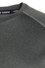 Short-sleeved running top - Dark grey marl - Men | H&M 3