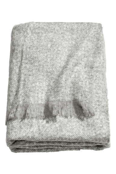 Soft blanket - Light grey - Home All | H&M CN 1