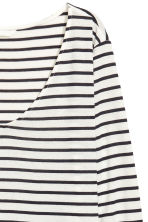 V-neck jersey top - White/Striped - Ladies | H&M 3