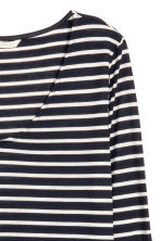 V-neck jersey top - Dark blue/Striped - Ladies | H&M CN 3