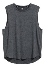 Sleeveless sports top - Dark grey marl - Men | H&M 2